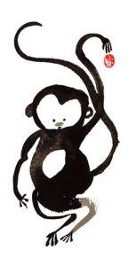 drawn monkey